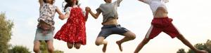 Happy Jumping Children